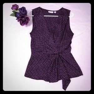 Purple sleeveless tank